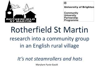 Rotherfield St Martin research into a community group in an English rural village