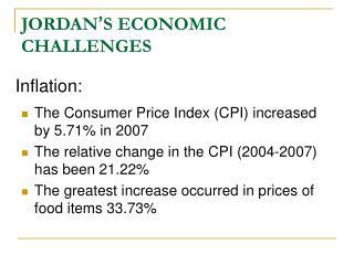 JORDAN � S ECONOMIC CHALLENGES