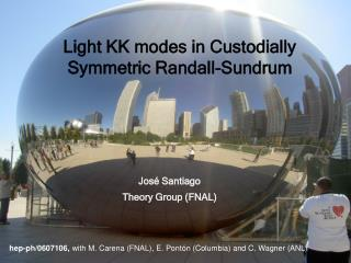 Light KK modes in Custodially Symmetric Randall-Sundrum