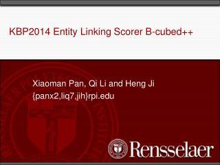 KBP2014 Entity Linking Scorer B-cubed++