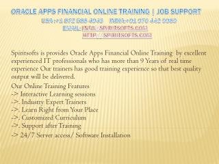 Oracle Apps Financial R12 Online Training