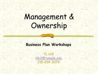 Management  Ownership