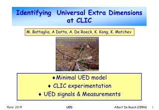 Identifying  Universal Extra Dimensions at CLIC