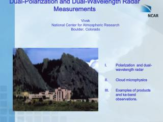 Dual-Polarization and Dual-Wavelength Radar Measurements