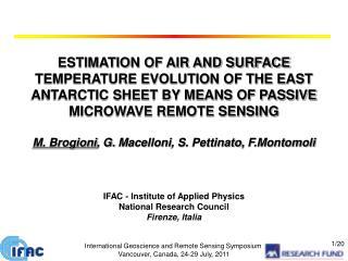 International Geoscience and Remote Sensing Symposium Vancouver, Canada, 24-29 July, 2011