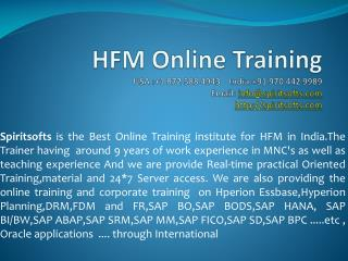 HFM Online Training | HFM Job Support
