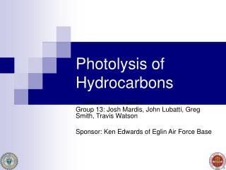 Photolysis of Hydrocarbons