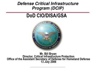 Defense Critical Infrastructure Program (DCIP)
