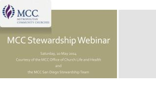 MCC Stewardship Webinar
