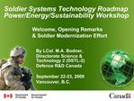 Soldier Systems Technology Roadmap Power