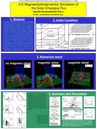 3-D Magnetohydrodynamics Simulation of  the Solar Emerging Flux