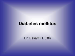 Type 1 Diabetes Mellitus  Introduction