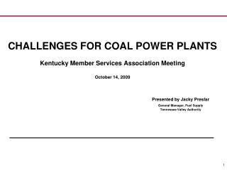 Background – Coal Power Plants