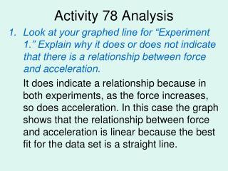 Activity 78 Analysis