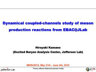 Dynamical coupled-channels study of meson production reactions from EBAC@JLab
