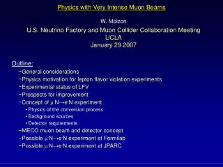 Physics with Very Intense Muon Beams