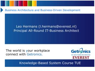 Business Architecture and Business-Driven Development