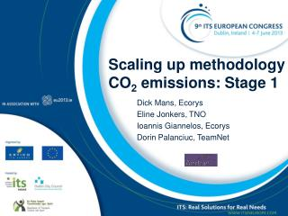 Scaling up methodology CO 2  emissions: Stage 1