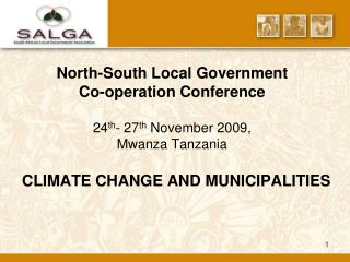 CLIMATE CHANGE AND MUNICIPALITIES