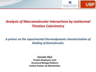 Analysis of Macromolecular Interactions by Isothermal Titration Calorimetry