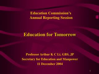 Education Commission's  Annual Reporting Session