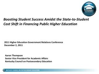 2011 Higher Education Government Relations Conference December 2, 2011