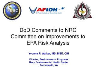 DoD Comments to NRC Committee on Improvements to EPA Risk Analysis