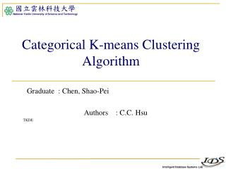Categorical K-means Clustering Algorithm