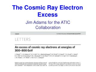 The Cosmic Ray Electron Excess