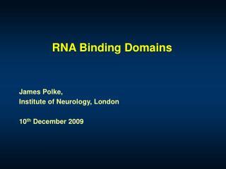 RNA Binding Domains