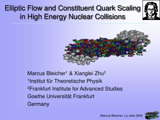 Elliptic Flow and Constituent Quark Scaling in High Energy Nuclear Collisions