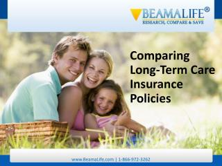 Comparing Long Term Care Insurance Policies