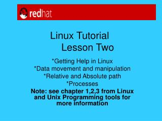 Linux Tutorial 	Lesson Two