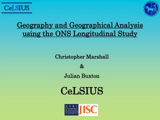 Geography and Geographical Analysis using the ONS Longitudinal Study