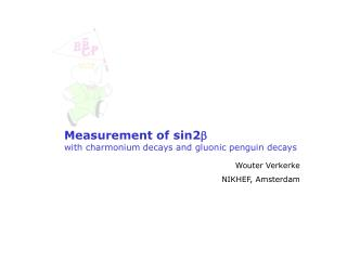 Measurement of sin2 b with charmonium decays and gluonic penguin decays