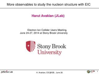 More observables to study the nucleon structure with EIC