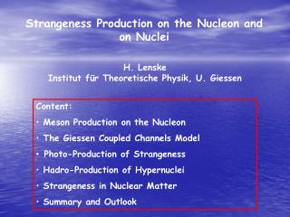 Strangeness Production on the Nucleon and on Nuclei