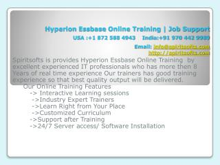 Hyperion Essbase Online Training India USA Canada UK Austral