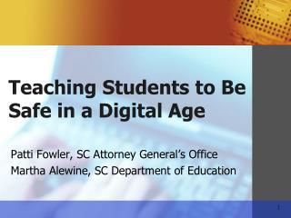 Patti Fowler, SC Attorney General s Office Martha Alewine, SC Department of Education