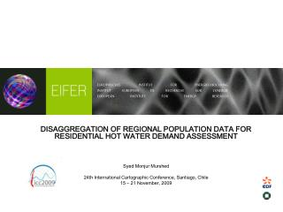DISAGGREGATION OF REGIONAL POPULATION DATA FOR RESIDENTIAL HOT WATER DEMAND ASSESSMENT