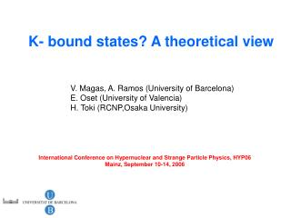 K- bound states? A theoretical view