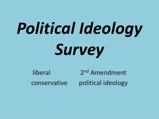 Political Ideology  Survey