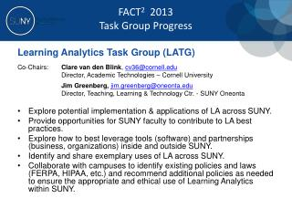 Learning Analytics Task Group (LATG)
