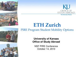ETH Zurich PIRE Program Student Mobility Options