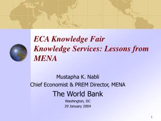 ECA Knowledge Fair Knowledge Services: Lessons from  MENA