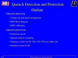 Quench Detection and Protection