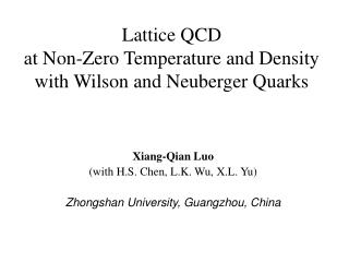 Lattice QCD  at Non-Zero Temperature and Density with Wilson and Neuberger Quarks