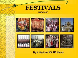 FESTIVALS  INDEX PAGE