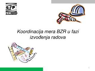 Koordinacija mera BZR u fazi izvodenja radova