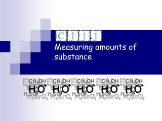 Measuring amounts of substance